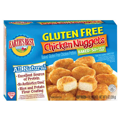 Earths Best Gluten Free Chicken Nuggets 8oz