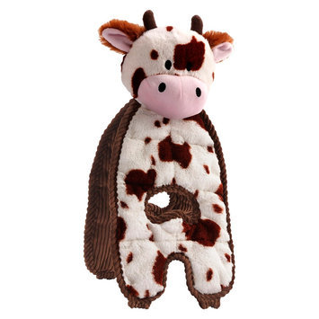 Charming Pet Products CQ00007 Cuddle Tug Dog Toy - Cow