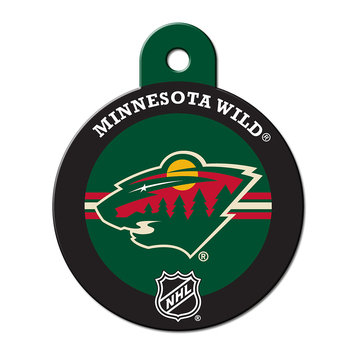 Quick-Tag Minnesota Wild NHL Personalized Engraved Pet ID Tag, 1 1/4 W X 1 1/2 H