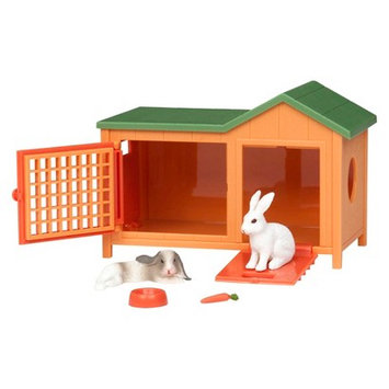 Terra By Battat Terra Rabbit Hutch Animal Figure By Battat
