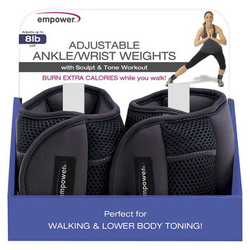 Fitness Em, Llc Empower Adjustable Ankle/Wrist Weights - 1 Pair