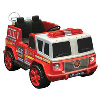National Products Ltd Kid Motorz Fire Engine 12V Two Seater Ride On