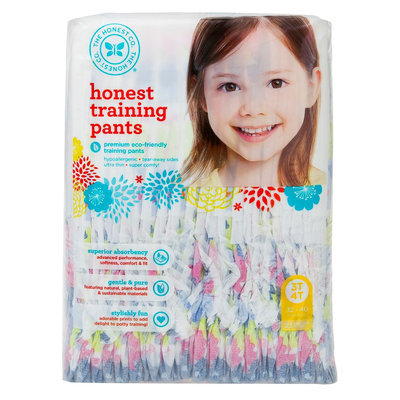 The Honest Company Honest Training Pants Chambray Floral - Size 3T/4T (23 Count)