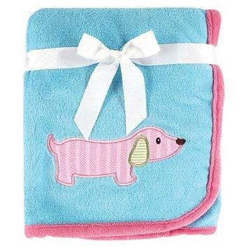 Hudson Baby Baby Large Animal Applique Blanket - Dog