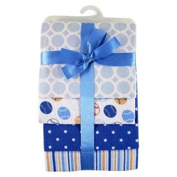 Hudson Baby Baby Flannel Receiving Blanket 4pk - Sport