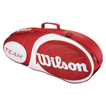 Wilson Team Collection 3 Pack Tennis Bag, Red/White