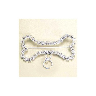 KSA Club Pack of 18 Sparkling Dog Bone Jewelry Pin with Loop Rings for