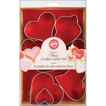 Wilton Metal Cookie Cutters 6/Pkg Hearts