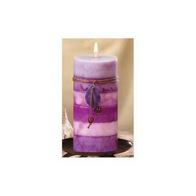 CC Home Furnishings Pack of 4 Naturals Calming Aromatherapy Scented Pillar Candles 6