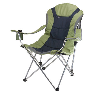 Picnictime Picnic Time Reclining Camp Chair, Sage Green