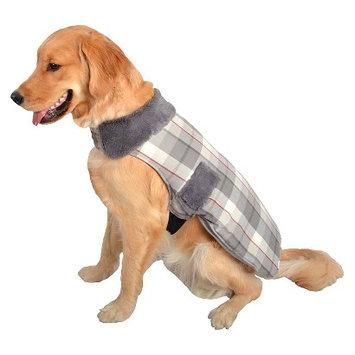 Boots & Barkley Pet Apparel- Plaid Coat with Fur Collar