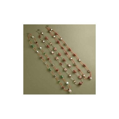 Roman Set of 3 Glass Beaded Santa, Candy & Snowman Christmas Necklaces 23