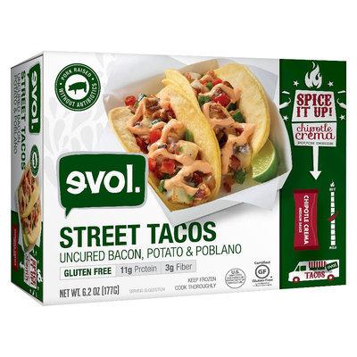 Evol Uncured Bacon, Potato & Poblano Pepper Street Taco