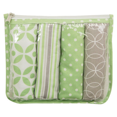 Trend Lab 5-Piece Baby Burp Cloth Set with Pouch - Lauren by Lab