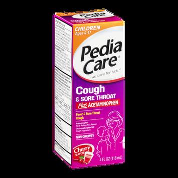 Pedia Care Cough & Sore Throat Non-Drowsy Cherry