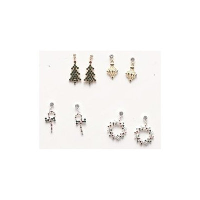 Roman Club Pack of 16 Pairs of Traditional Christmas Jewelry Metal Earrings