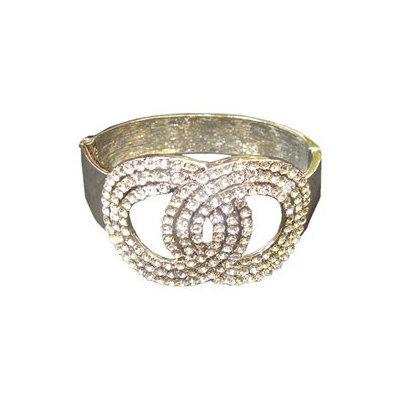December Diamonds Silvertone Crystal Fashion Jewelry Cuff Bracelet 8