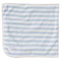 Burt's Bees Baby Organic Double Ply Hooded Striped Knit Terry Towel