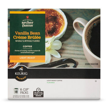 Mother Parkers Tea & Coffee Inc. Vanilla Bean Creme Brulee K-Cup pods 18ct - Archer Farms