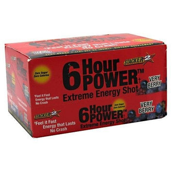 NVE Pharmaceuticals 6 Hour Power, Very Berry 12- 2 fl oz (60 ml) bottles