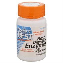 Doctor's Best, Best Digestive Enzymes All Vegetarian 10 Veggie Caps