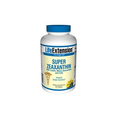 Life Extension Super Zeaxanthin with Lutein, Meso-Zeaxanthin and C3G