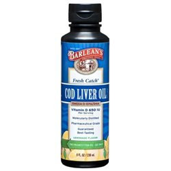 Barleans Barlean's, Fresh Catch Cod Liver Oil Lemonade 8 fl oz