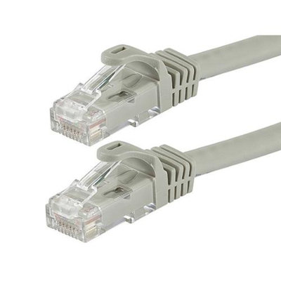 Monoprice 2FT FLEXboot Series 24AWG Cat6 550MHz UTP Bare Copper Ethernet Network Cable - Gray