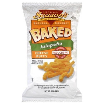 Season's Snacks Michael Season's Baked Cheddar Cheese Jalapeno Puff, 5-Ounce Bags (Pack of 12)