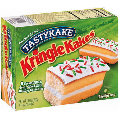 Tastykake® Cream Filled Iced Cakes Kringle Kakes with Holiday Sprinkles