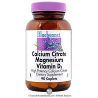 Bluebonnet Nutrition - Calcium Citrate Magnesium Vitamin D3 High Potency - 90 Caplets