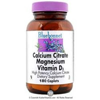 Bluebonnet Nutrition - Calcium Citrate Magnesium Vitamin D3 High Potency - 180 Caplets