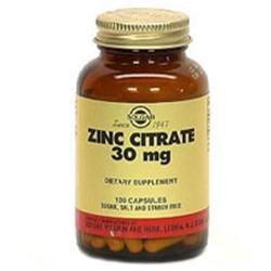 Solgar - Zinc Citrate 30 mg. - 100 Vegetarian Capsules