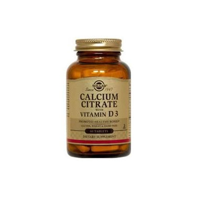 Solgar Calcium Citrate With Vitamin D3 - 240 Tablets