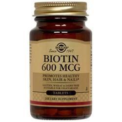 Solgar Biotin 600 MCG - 100 Tablets - Biotin