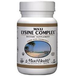 Maxi Health Maxi Lysine Complex with Probiotics - 60 Vegicaps