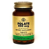 Solgar Folate 800 mcg (as metafolin) - 100 Tablets