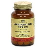 Solgar L-Glutamic Acid - 500 mg - 100 Tablets