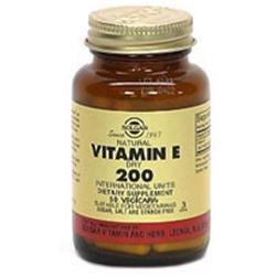 Solgar Vitamin E 200 IU Dry * - 50 Vegicaps