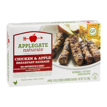 Applegate Naturals Chicken & Apple Breakfast Sausage - 10 CT
