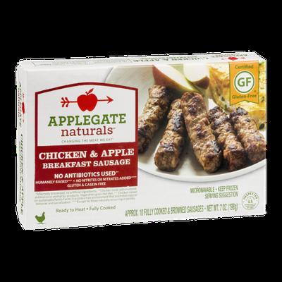 Applegate Naturals Chicken & Apple Breakfast Sausage - 10 CT