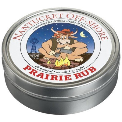 Nantucket Off-Shore Prairie Rub, Seasoning for Steaks & Burgers, 2.75-Ounce Tins (Pack of 6)