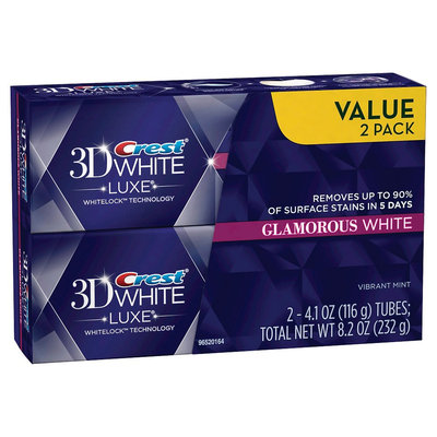 Crest 3D White Luxe Glamorous Toothpaste - 2 Count (4.1 oz each)