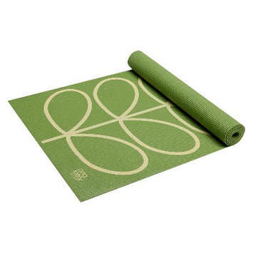 Orla Kiely by Gaiam Linear Stem Apple Yoga Mat- Green (3mm)