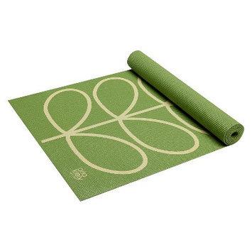 Orla Kiely by Gaiam Linear Stem Apple Yoga Mat- Green (3mm)