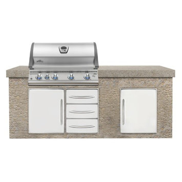 Napoleon BILEX605RBINSS Built In Mirage/Lex Natural Gas Grill with 80 000 BTUs 5 Burners Three 304 Stainless Steel Commercial Grade Burners LIFT EASE and ACCU-PROBE