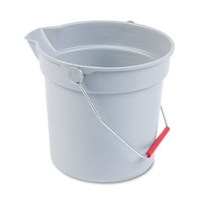 Rubbermaid Commercial RCP296300GY Brute Utility Bucket, 10 Quart, Gray