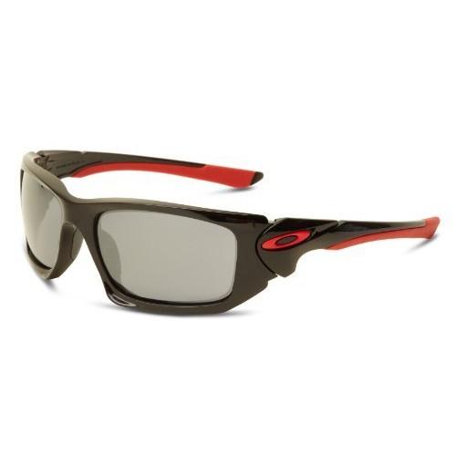 Oakley Mens Scalpel OO9095-14 Iridium Rectangle Sunglasses,Polished Black Frame/Black Lens,One Size