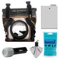 DiCAPac WP-S5 Waterproof Underwater Housing Case with LP-E8 Battery + LED Torch + Accessory Kit for Canon EOS Rebel T3i & T4i Digital SLR Cameras