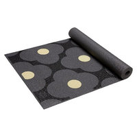 Orla Kiely by Gaiam Giant Flower Spot Graphite Yoga Mat- Grey (3mm)